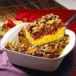 1-Dish Mix & Bake Chili Cornbread