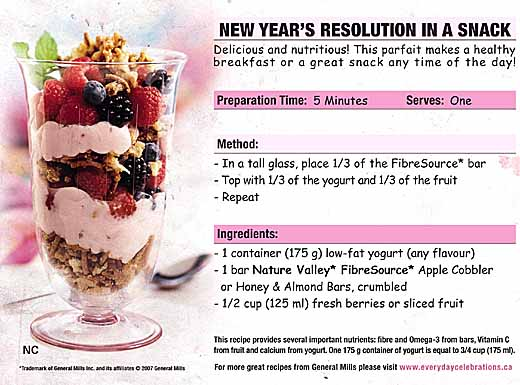 New Year's Resolution In A Snack
