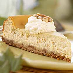 Maple Cheesecake with Toasted Walnut Crust