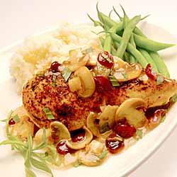Chicken Breasts with Tarragon Mushroom Sauce