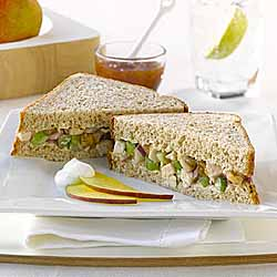 Chicken with Mango Chutney Sandwich