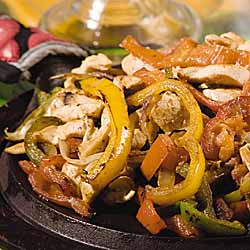 Chicken and Peppers Fajitas