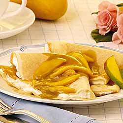 Mango Almond Crepes