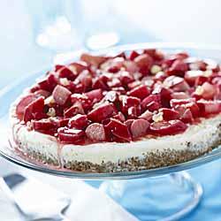Sweet Summer Vanilla & Rhubarb Torte