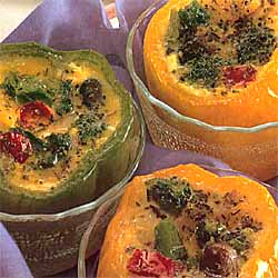 Quiche in Pepper Pots
