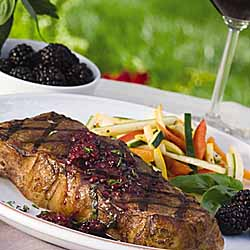 Blackberry Cabernet Marinated Steaks