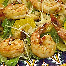 Sicilian Salad with Grilled Shrimp