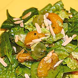 Curried Spinach Salad With Grapes And Oranges