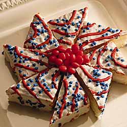 Stars & Stripes Pinwheel Cakes