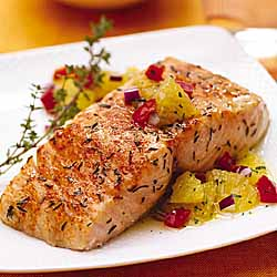Citrus Salmon with Orange Relish