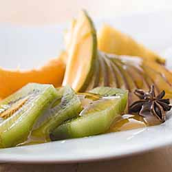 Tropical Fruit Salad With Spiced Orange Sauce