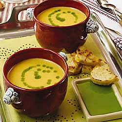 Butternut Squash Soup with Chive Oil