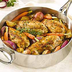 Pan Sauteed Chicken with Vegetables & Herbs