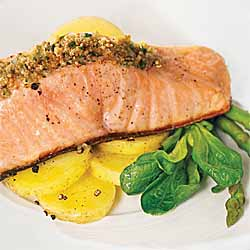 Salmon with a Homemade Grain Mustard Crust