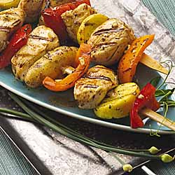 Garlic And Olive Oil Chicken Kabobs