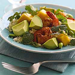 Couscous with California Avocado, Mango and Shrimp