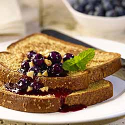 Country Harvest French Toast with Blueberry Sauce