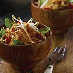 Vegetable Pad Thai with Snow Peas