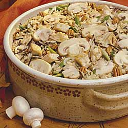 Mushroom Turkey and Rice Casserole