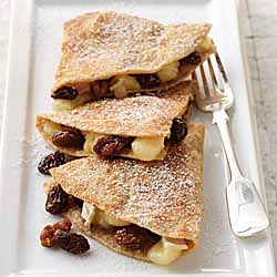California Raisin and Brie Dessert Quesadillas