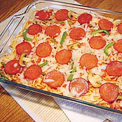 Pepperoni Pizza Pasta