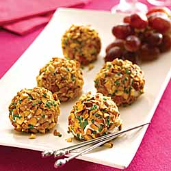 Almond Crusted Chevre and Grape *Truffles*