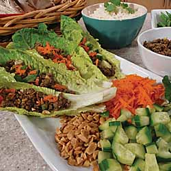 Asian Mushroom Lettuce Wraps