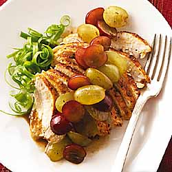 Sweet and Spicy Cajun Chicken with Chilean Grapes