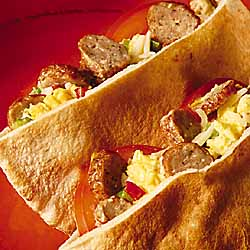 Hearty Breakfast Pitas
