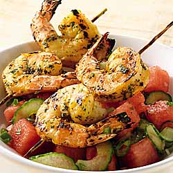Thai Shrimp with Watermelon Salsa