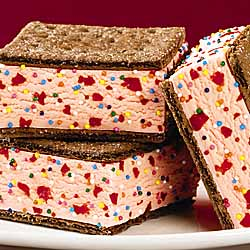Chocolate Cherry Ice Cream Sandwiches