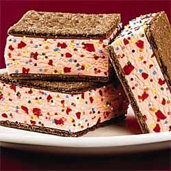 Chocolate Cherry Ice Cream Sandwiches