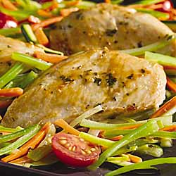 Chicken With Herbed Vegetable Sauce