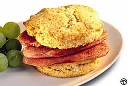 Sweetpotato Biscuits & Virginia Traditions Country Ham