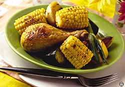 Roast Chicken And Supersweet Corn