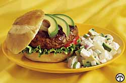 Chipotle-Avocado Burgers