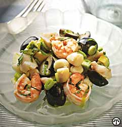 Low-Carb Lime Marinated Seafood Salad