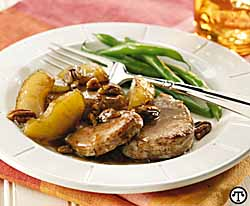 Apple-Pecan Tenderloin Medallions