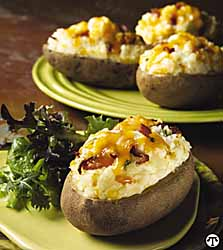 Cheesy California Twice-Baked Potatoes