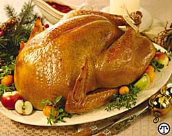 Brined And Roasted Whole Turkey
