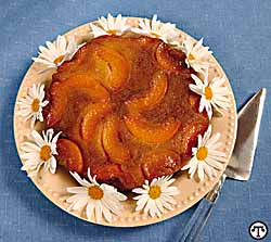 California Cling Peach Upside Down Cake