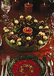 Ferrero Rocher(r) Holiday Table Wreath