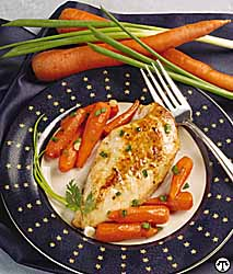 Chicken and Baby Carrots in Lemon Sauce