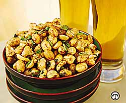 Spicy Roasted Peanuts with Green Onions