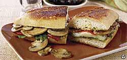 Mushroom-Mozzarella Panini