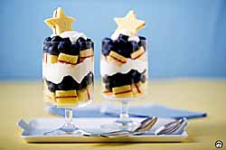 Star-Spangled Blueberry Parfaits