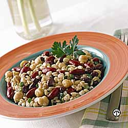 Three Bean & Barley Salad