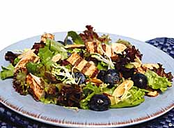 Mixed Greens, Turkey And Blueberries With Pomegranate Blueberry Vinaigrette