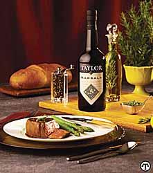 Beef Tenderloin and Asparagus with Taylor Marsala Sauce