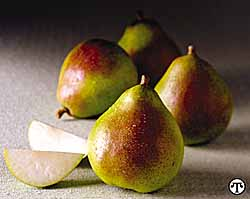 Royal Riviera Pears with Chocolate Sauce